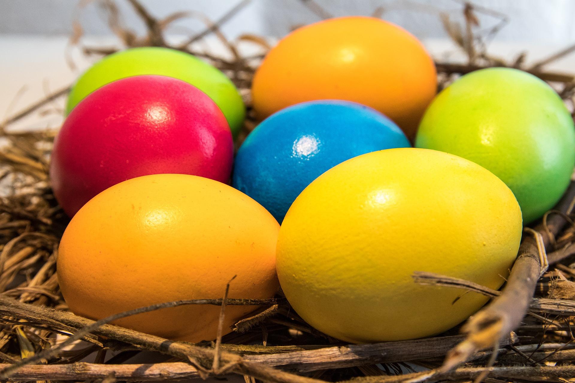 Barvení velikonočních vajíček